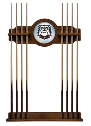 Georgia Bulldog Cue Rack Chardonnay Finish