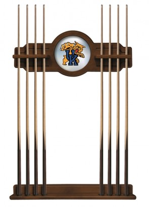 Kentucky Wildcat Cue Rack Chardonnay Finish