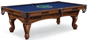 University of Florida Gators Pool Table With Logo Cloth