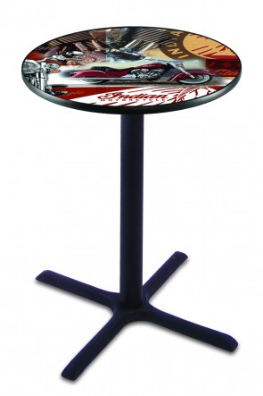 L211 Indian Motorcycle Collage Pub Table