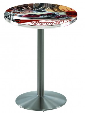 L214 Indian Motorcycles Logo Stainless Pub Table