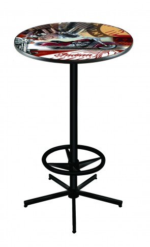 L216 Black Indian Motorcycles Collage Pub Table