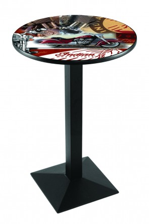 L217 Black Wrinkle Indian Motorcycles Collage Pub Table