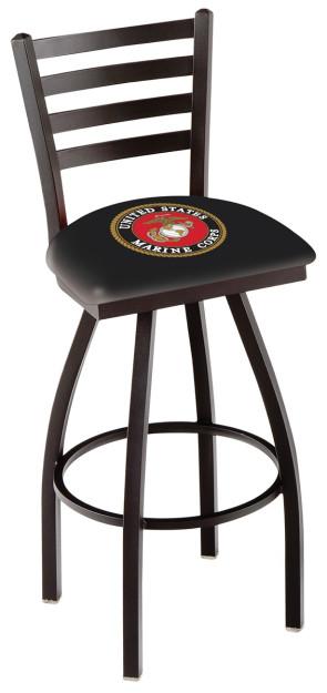 L014 Us Marine Corps Logo Bar Stool