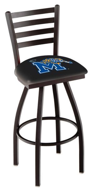 L014 University of Memphis Logo Bar Stool