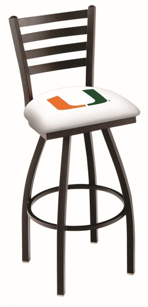L014 University of Miami Logo Bar Stool