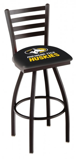 L014 Michigan Tech Logo Bar Stool