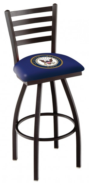 L014 US Navy Logo Bar Stool