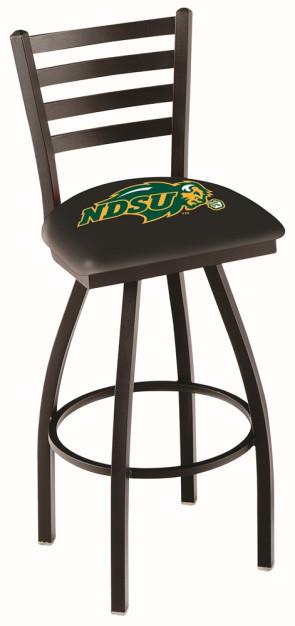 L014 North Dakota State Logo Bar Stool - Black