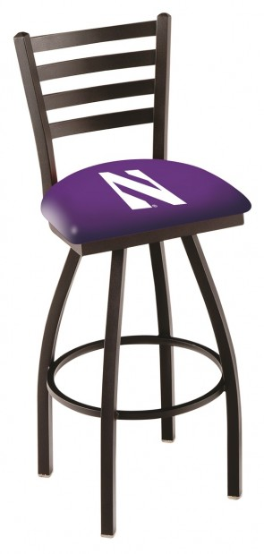 L014 Northwestern University Logo Bar Stool