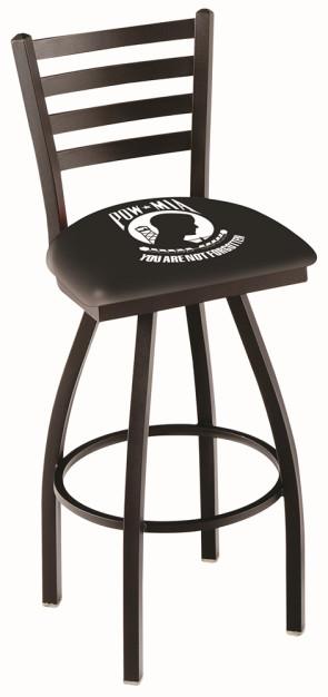 L014 POW - MIA Logo Bar Stool