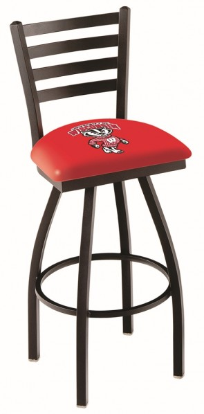 L014 University of Wisconsin - Bucky Logo Bar Stool
