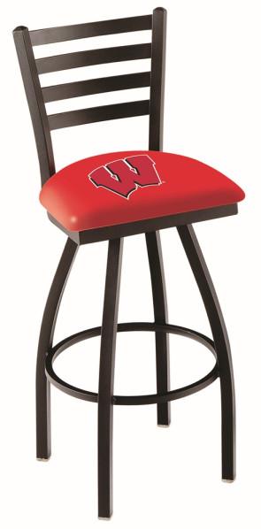 L014 University of Wisconsin - W Block Logo Bar Stool