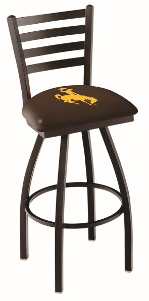 L014 University of Wyoming Logo Bar Stool