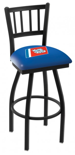 L018 US Coast Guard Logo Bar Stool
