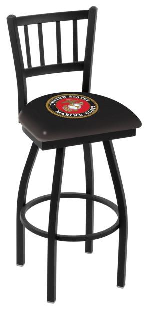 L018 Us Marine Corps Logo Bar Stool