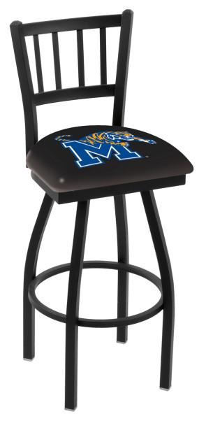 L018 University of Memphis Logo Bar Stool