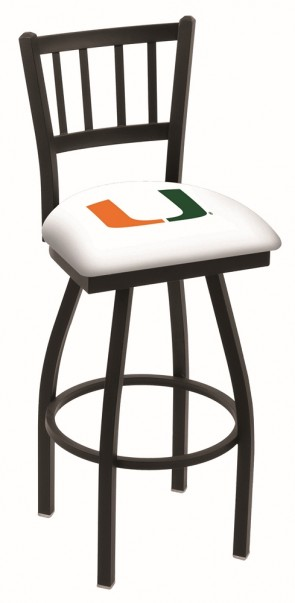 L018 University of Miami Logo Bar Stool