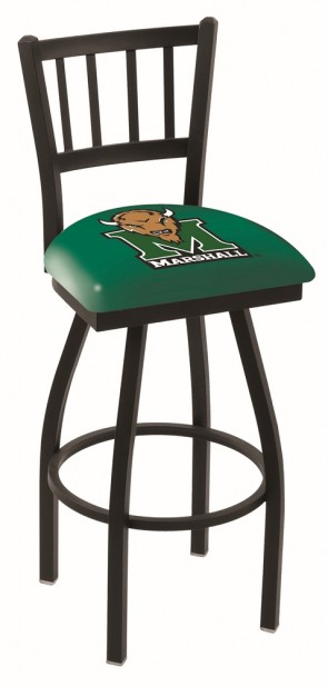 L018 Marshall University Logo Bar Stool