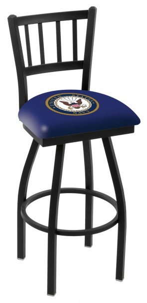 L018 US Navy Logo Bar Stool
