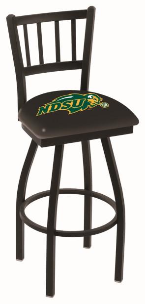 L018 North Dakota State Logo Bar Stool - Black