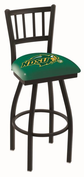 L018 North Dakota State Logo Bar Stool - Green