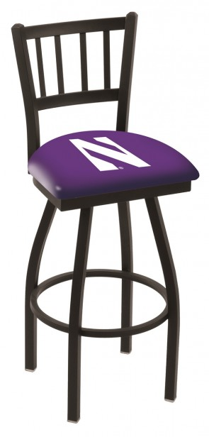 L018 Northwestern University Logo Bar Stool