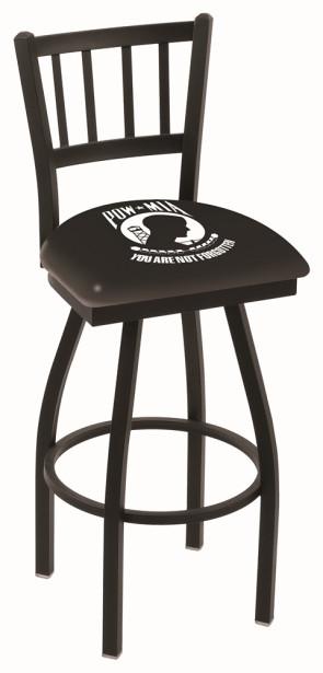 L018 POW - MIA Logo Bar Stool