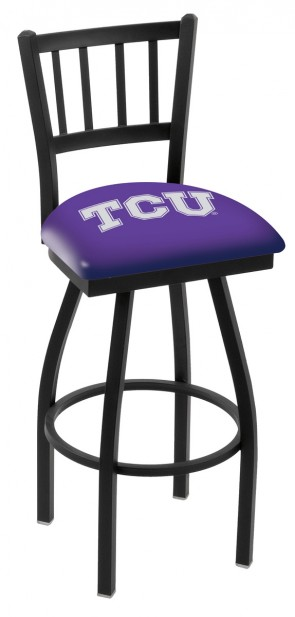 L018 Texas Christian University Logo Bar Stool