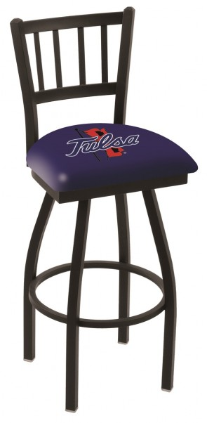 L018 University of Tulsa Logo Bar Stool