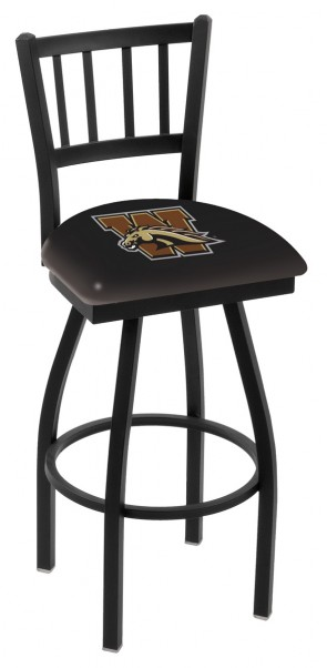 L018 Western Michigan University Logo Bar Stool