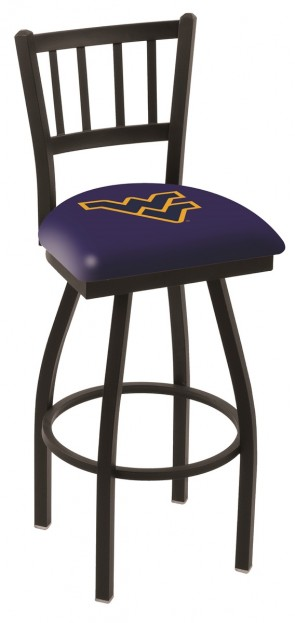 L018 West Virginia University Logo Bar Stoo