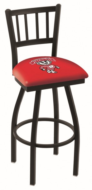 L018 University of Wisconsin - Bucky Logo Bar Stool