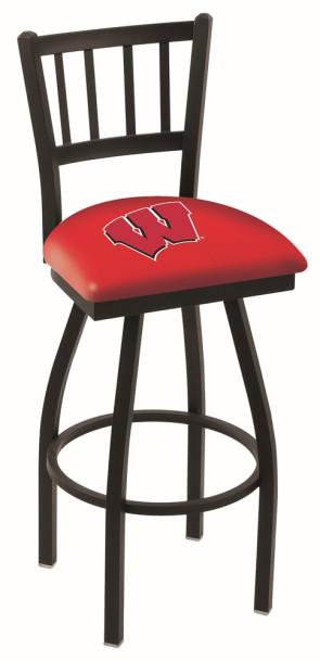 L018 University of Wisconsin - W BlockLogo Bar Stool