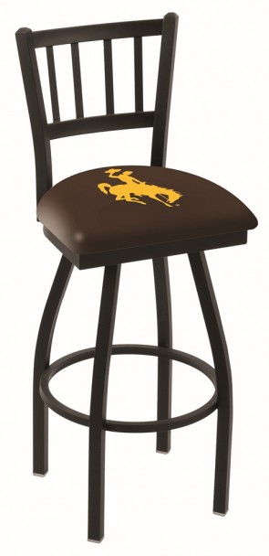 L018 University of Wyoming Logo Bar Stool
