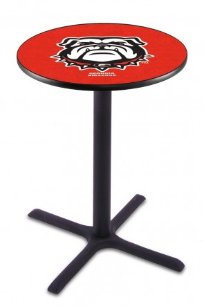Georgia L211 Dog Logo Pub Table