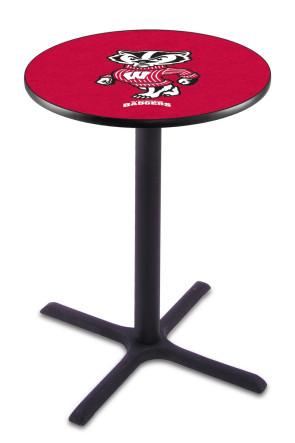 Wisconsin L211 Bucky Logo Pub Table