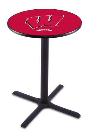 Wisconsin L211 W Block Logo Pub Table