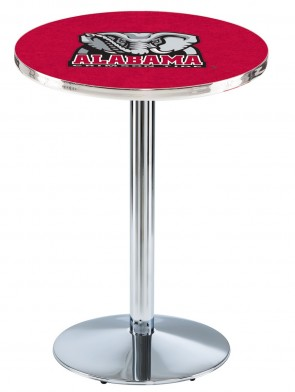 Alabama Chrome L214 Elephant Logo Pub Table