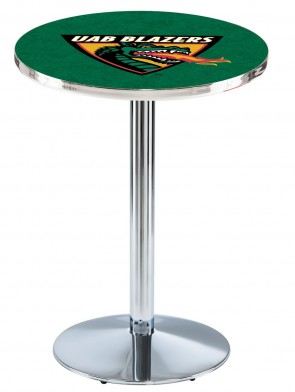 Alabama at Birmingham Chrome L214 Logo Pub Table
