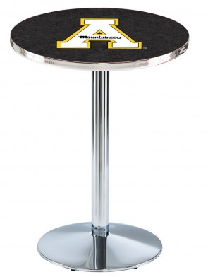 Appalachian State Chrome L214 Logo Pub Table