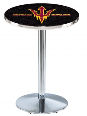 Arizona State Chrome L214 Pitchfork Logo Pub Table