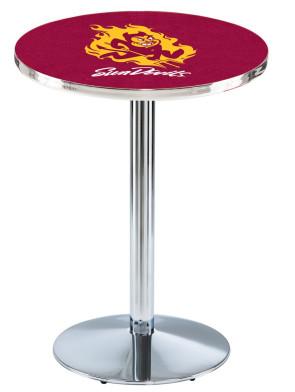 Arizona State Chrome L214 Sparky Logo Pub Table