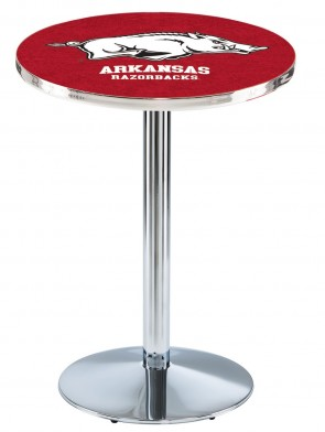 Arkansas Chrome L214 Logo Pub Table