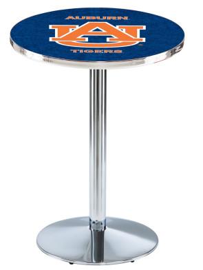 Auburn Chrome L214 Logo Pub Table
