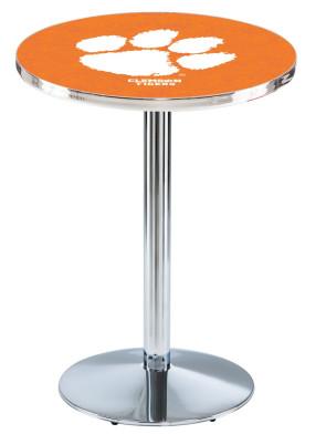 Clemson Chrome L214 Logo Pub Table