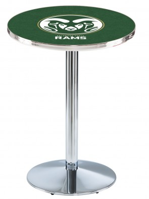 Colorado State Chrome L214 Logo Pub Table