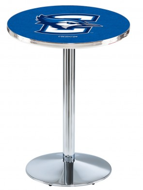 Creighton Chrome L214 Logo Pub Table