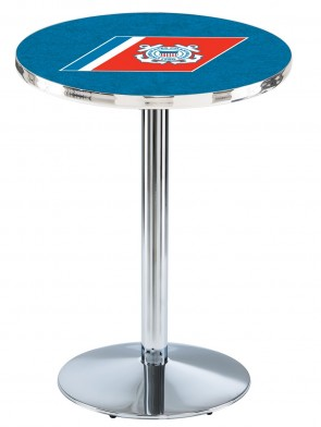 US Coast Guard Chrome L214 Logo Pub Table