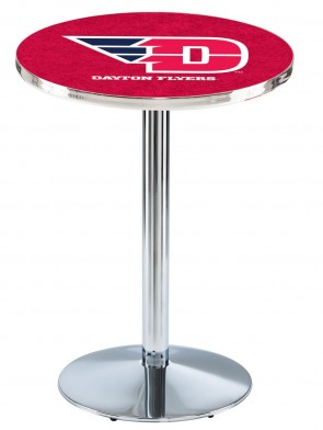 Dayton Chrome L214 Logo Pub Table